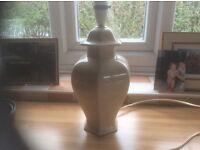 Lamp base, large, cream, ceramic excellent condition