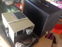 Vintage..Manual HALINAMAT 35mm Slide PROJECTOR from the 1960's EMPIRE MADE.and CUSTOM CASE.
