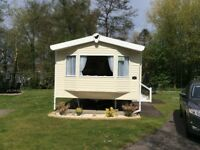 Prestige caravan for hire on the Wild Duck Haven site near Great Yarmouth. Sleeps upto 6 people.