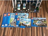 Lego police station 7498 and helicopter 7741
