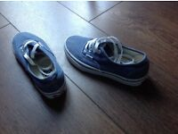 Blue VANS pumps Size 4