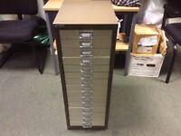 Triumph Brown & Cream 15 Drawer Filing Cabinet