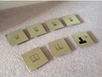 Brass effect light switches