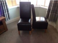 4 set of next leather dining chairs also available next Cambridge table both in excellent condition