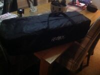 Baby/toddler travel cot Red kite used a couple of times