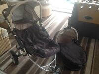 Quinny off road buggy with carrycot and footmuff