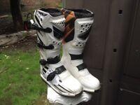 Motorcross boots.