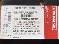 LIAM GALLAGHERS HIGH FLYING BIRDS 2 x TICKETS @ CARDIFF MOTORPOINT ARENA THIS SUNDAY 06/05/18