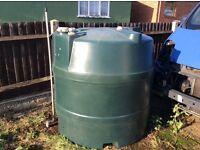 Plastic 4' round heating oil tank