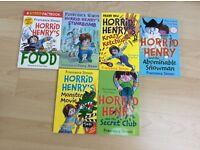 6 Horrid Henry books