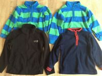Bundle of boy fleece cardigan and Jumper x4 included from M&S and Regatta in excellent condition.