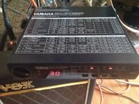 VINTAGE YAMAHA EMP 100 DIGITAL 1980s EFFECTS UNIT WITH MANUAL & POWER SUPPLY RARE WORKING FX BOX