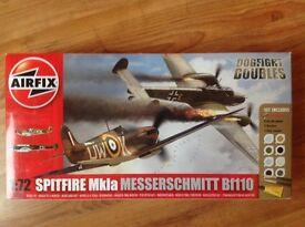 Airfix A50128 Dogfight Doubles - Spitfire and Messerschmitt Models (Unopened)