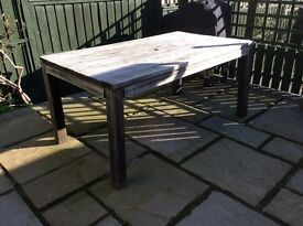 Large Hardwood Rectangular Patio Table