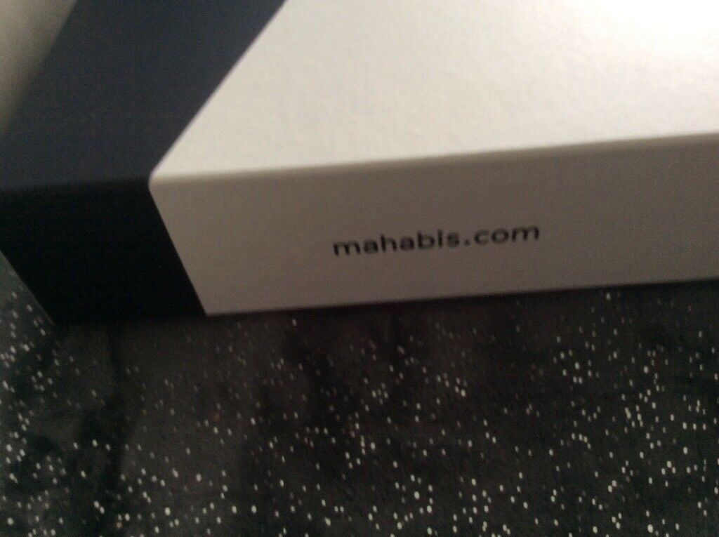 6dd31bcd14b MAHABIS slippers NEW never worn still in box size 39 NAVY EXCELLENT  CONDITION AS NEW