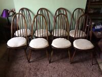 8 Ercol Quaker Dining Chairs