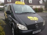 Mercedes Vito traveliner long wheel brace Taxi bus. .