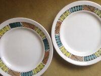 Broadhurst Mardi Gras side plates x 2
