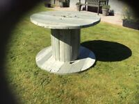 Upcycled cable wheel patio/garden table £50