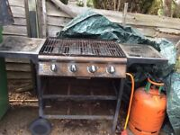 Gas bbq with gas bottle. Working order