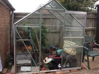4' x 6' ALUNINIUM GREENHOUSE OLD BUT STILL USABLE