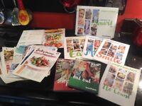 WW diet books, cook books, smart points, no count, Flex, recipe cards, eat out & shop guide bundle