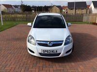 Vauxhall Zafira White, 1 Lady Owner, LOW MILEAGE