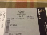 2 Tickets for Sold out Jake Bugg gig at Bristol Colston Hall 24/02/18 - £60