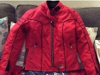 Ladies Red bike jacket