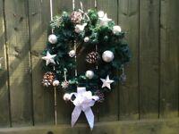 Pre-lit Xmas wreaths