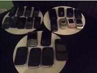 Job lot of mixed mobile phones