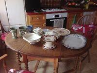 Crockery various pieces Wedgewood, Mason, Staffordshire, Meakin