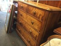 Large Victorian chest of drawers