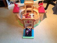 ELC Wooden Toy Castle,Knight,Wizard Figures etc,VGC