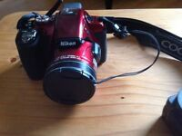 Nikon CoolPix P600 Digital Camera, cherry red with carry case