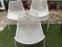 Set of 4 Metal mesh chairs made by emu