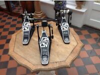 Tama power glide double pedal together with a single power glide pedal