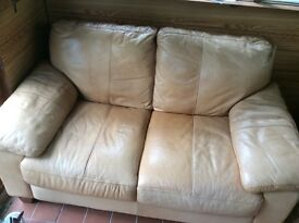 Tan leather 2 Seater sofa, good clean condition. Buyer to collect