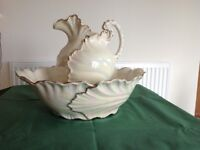 Lusterware ornamental bowl and jug