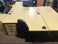 1600mm Right Curved Office Desk
