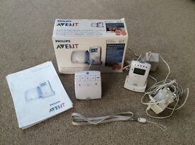 Philips Avent monitor in box with instructions