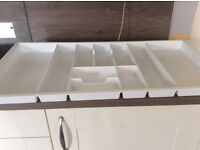 Cutlery tray for under hob drawer