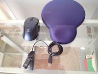Logitech lx8 Cordless Laser Mouse & Dimpgel Mouse Mat.