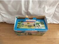 Sylvanian families bundle, including horse and caravan and ice cream van.