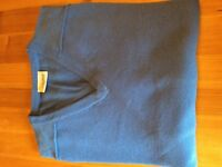 Glenbrae Gents Spirol Lambswool Sweater,New with tags,Sky XL