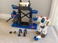 Imaginext Police robot base