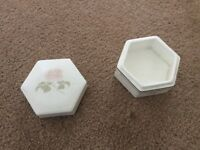 Royal Doulton twilight rose trinket box H5096