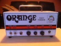 Orange Tiny Terror Valve Guitar Amp head with cab...