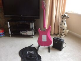ELECTRIC GUITAR KIT- 'Strat Style ' JAXVILLE Punk Graffitti - HAS SD humbuckers fitted