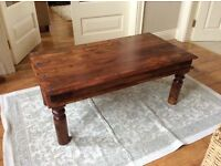 SOLID WOOD RUSTIC COFFEE TABLE
